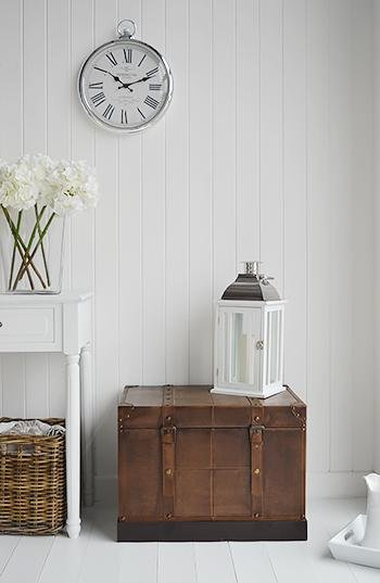 Panama Storage trunk for cottage living room and hallway furniture