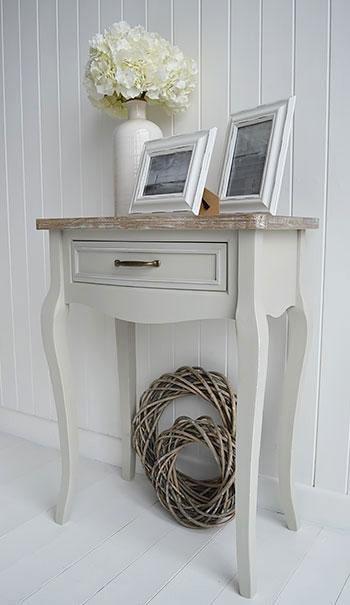 White Cottage Furniture - Bridgeport Grey Table for living room