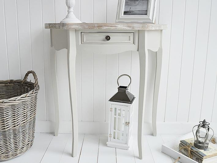 The White Cottage Bridgeport Grey Hal Moon Table