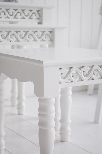 The White Cottage Nest of white tables for living room furniture