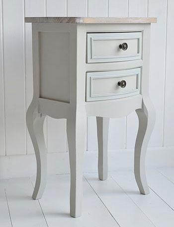 The White Cottage Furniture - Bridgeport Grey lamp table with drawers