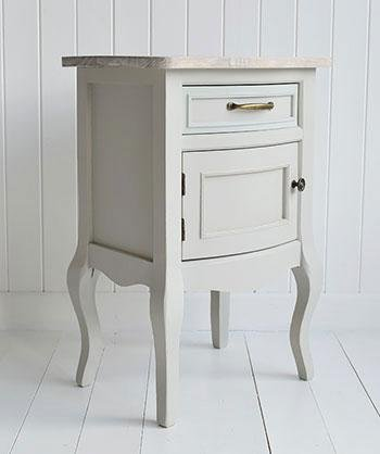 Bridgeport Grey Bedside Lamp Table for bedroom furniture
