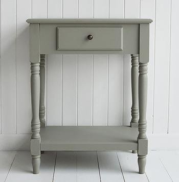 Charleston French Grey Table for hallway lamp table