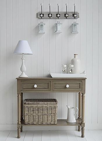 The White Cottage Newport French Grey Console Table
