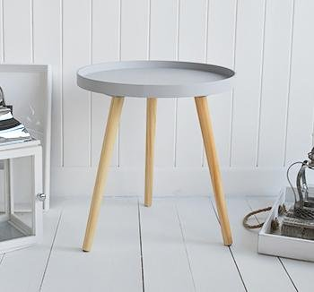 The White Cottage Furniture Portland grey scandi style side table