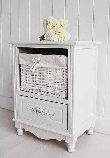 The White Cottage Furniture Rose Cabinet with 2 drawers