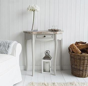 The White Cottage Bridgeport Grey Half Moon Table