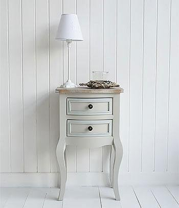 The White Cottage Furniture - Bridgeport Grey lamp table with drawers living room furniture