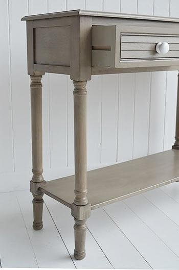 Newport French Grey Console Table for cottage hall furniture