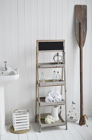 Montauk Wooden Shelf - Shelves for for cottage bathroom furniture