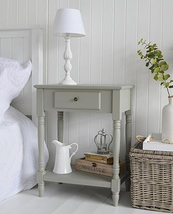 Charleston French Grey Table for cottage bedroom furniture