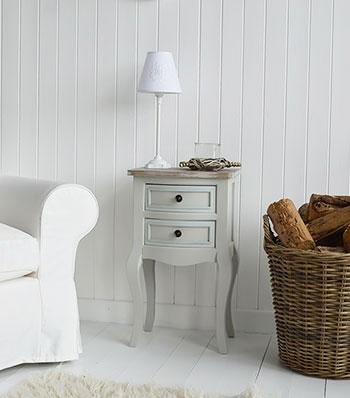 Bridgeport Grey Lamp table from The White Cottage bedroom Furniture