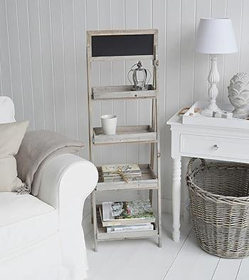 The White Cottage living room Furniture Montauk Shelves