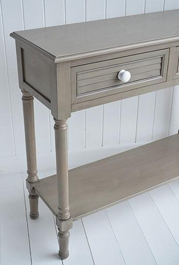 Newport French Grey Console Table