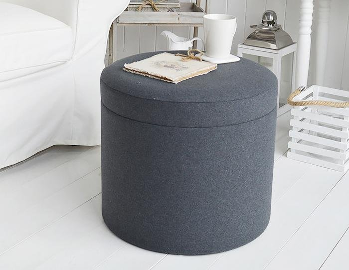 Westhampton Grey foot stool, coffee table and dressing table stool