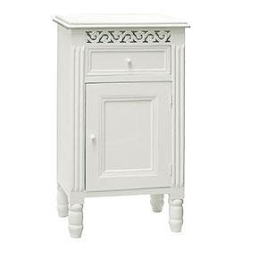 New England white Pot Cupboard with cupboard and drawer