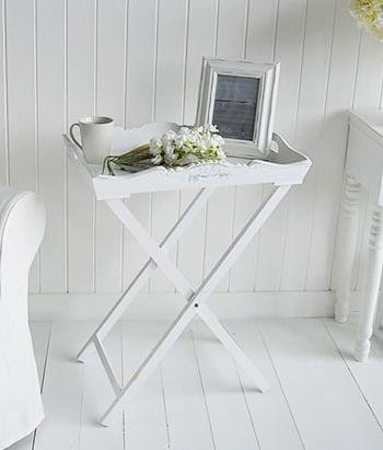The White Cottage Butler Tray Table small lamp table for hallway furniture