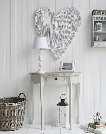 The White Cottage Bridgeport Grey Hal Moon Table hallway furniture