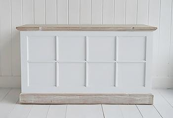 Vermont small trunk for hall furniture from The White Cottage Furniture