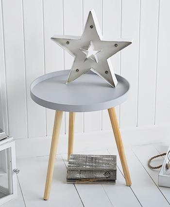 The White Cottage Furniture Portland grey scandi style bedside table