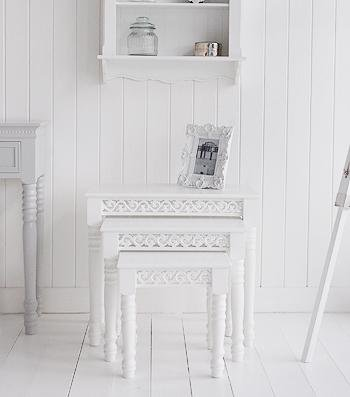 White coffee tables from White Cottage Furniture