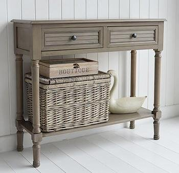 The White Cottage Newport French Grey Console Table Hallway Furniture