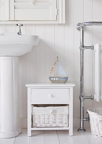 New Haven white bathroom storage cabinet from White Cottage bathroom Furniture