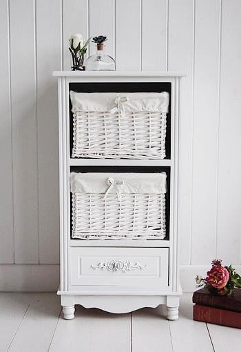 The White Cottage Rose white cabinet for bedroom furniture