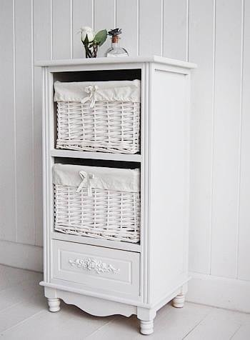 The White Cottage Rose white cabinet for hall furniture
