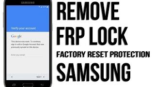 Samsung FRP account removal