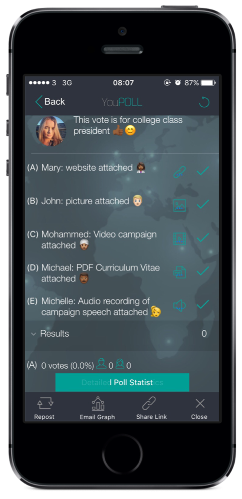 polls, elections, surveys, apps, mobile phones, earn money, audio, video, image,PDF, website,free , YouPOLL