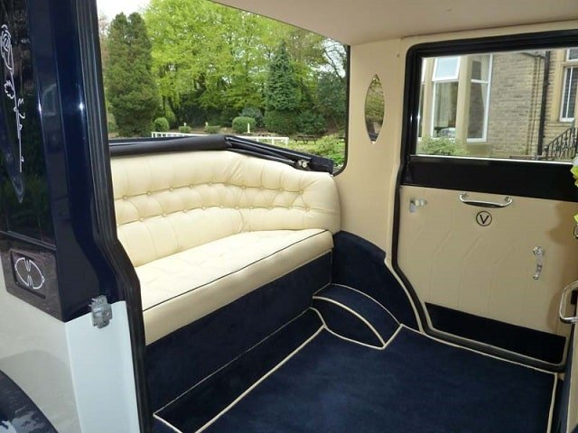 Viscount limousine showing rear seat with ample rear leg room
