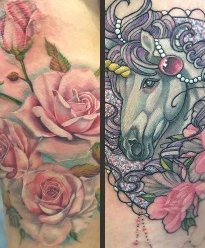 Tattoo work by Renaissance Artist Amanda