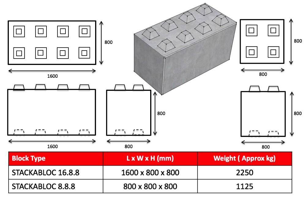 Stackabloc concrete lego blocks