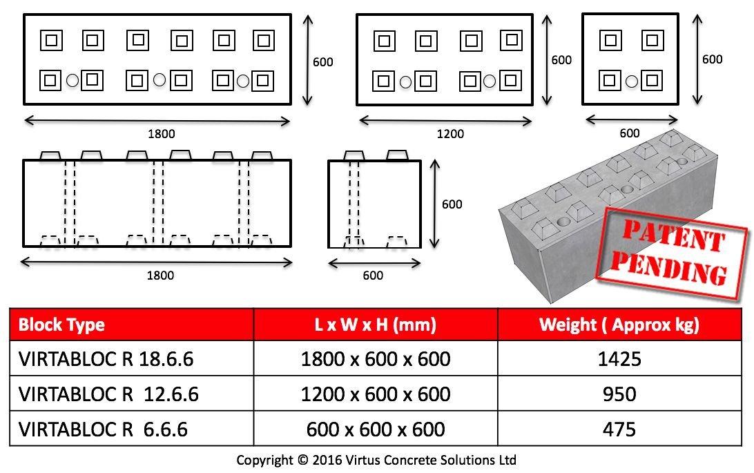 Virtabloc concrete lego blocks