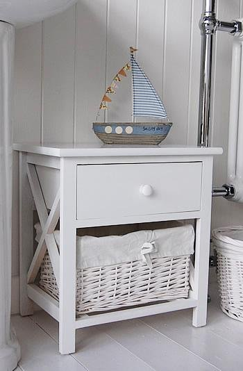 New Haven small bathroom cabinet with drawers