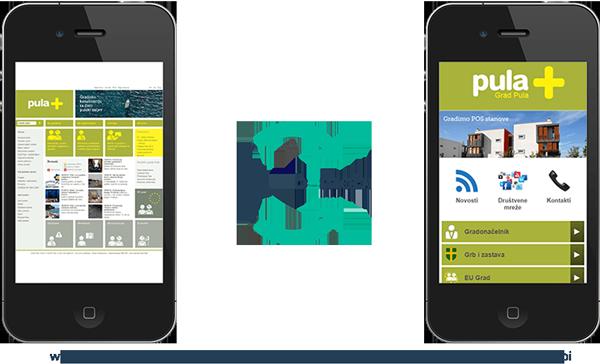 Mobilna stranica grad Pula