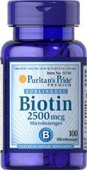 биотин Puritan's Pride, 100табл.