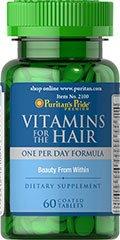 витамины для волос с биотином Puritan's Pride 60табл.
