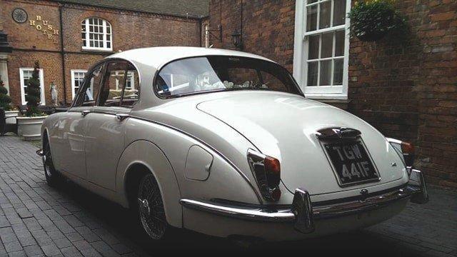 Rear view of Jaguar Mk2